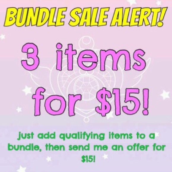 3 for $15 - any items under $10.